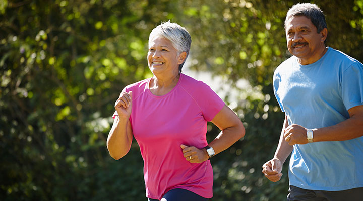 Regular aerobic exercise beginning in middle age may lessen severity of stroke in old age